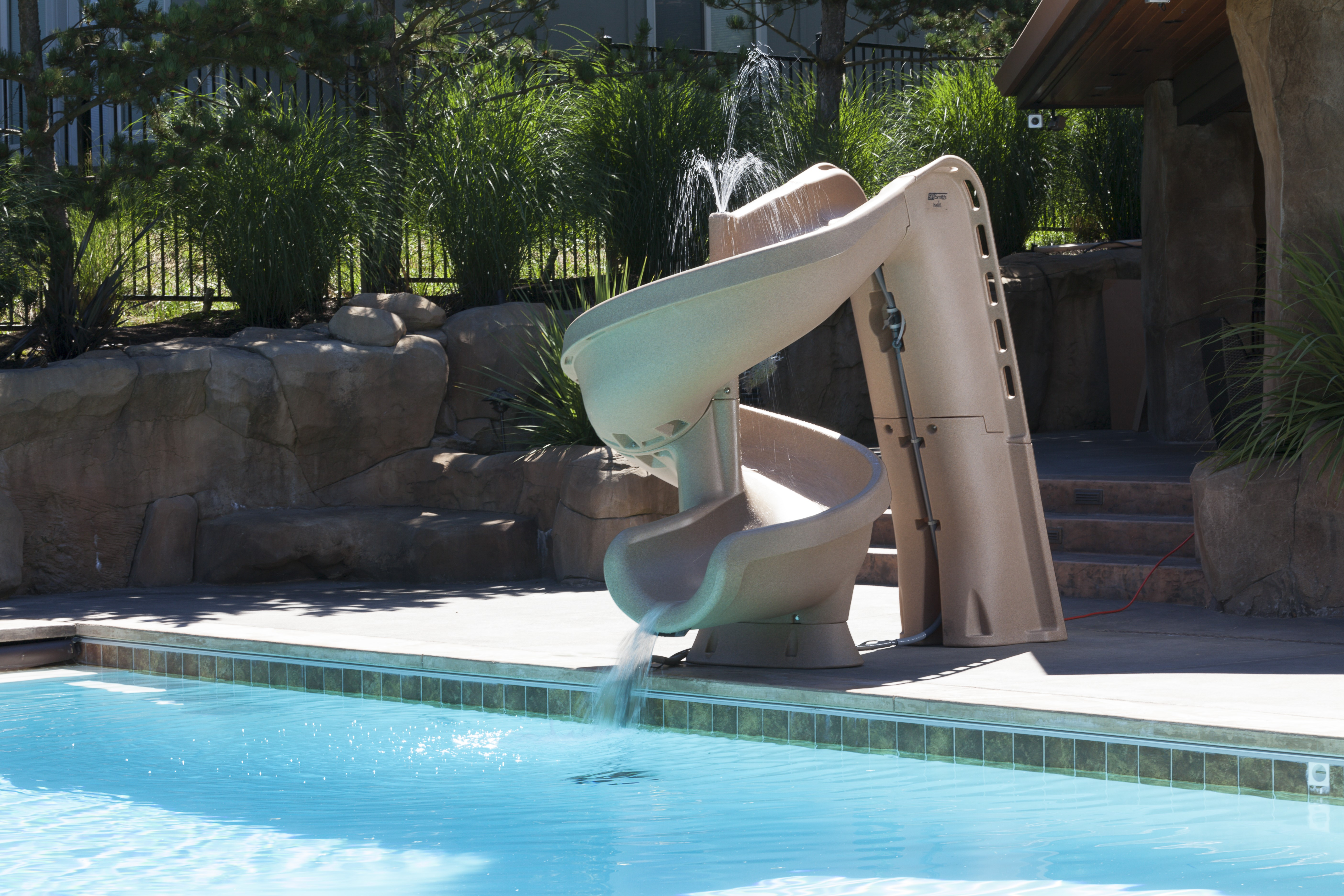 Helix2 pool slide - Commercial swimming pool water slides ...