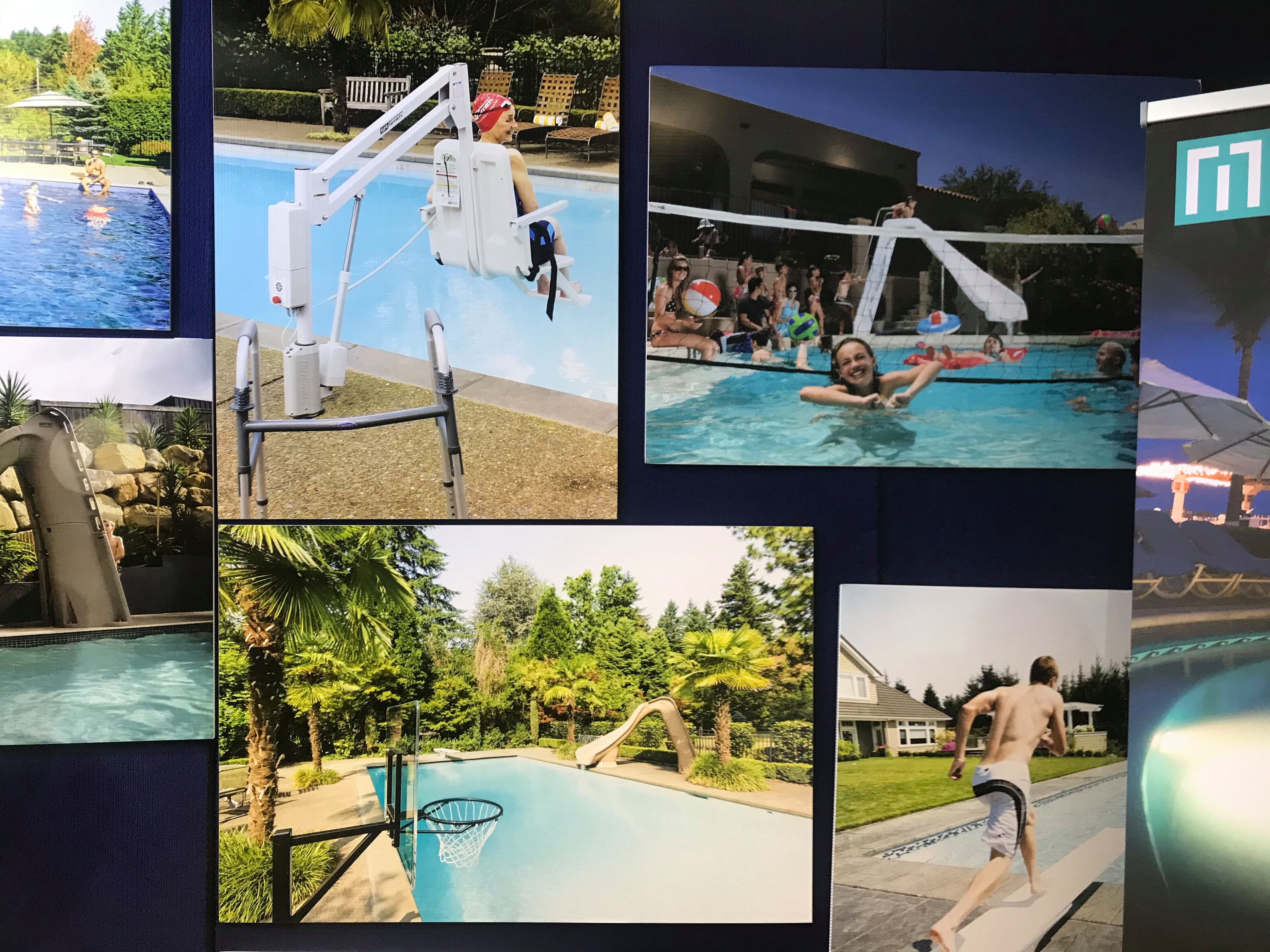 pool slides backyard fun